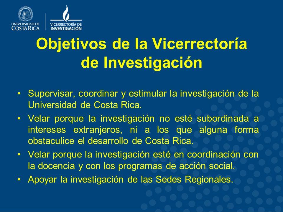 Objetivos de la Vicerrectoría de Investigación