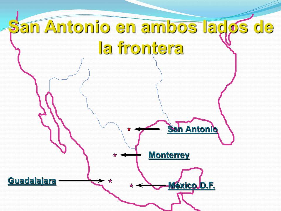 San Antonio en ambos lados de la frontera