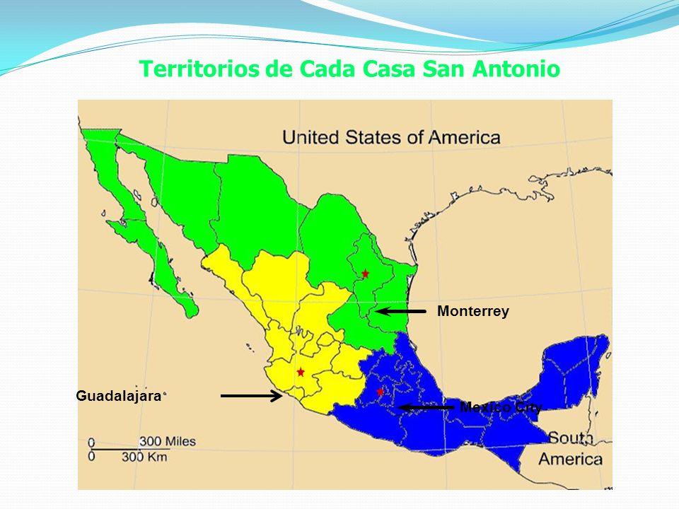 Territorios de Cada Casa San Antonio