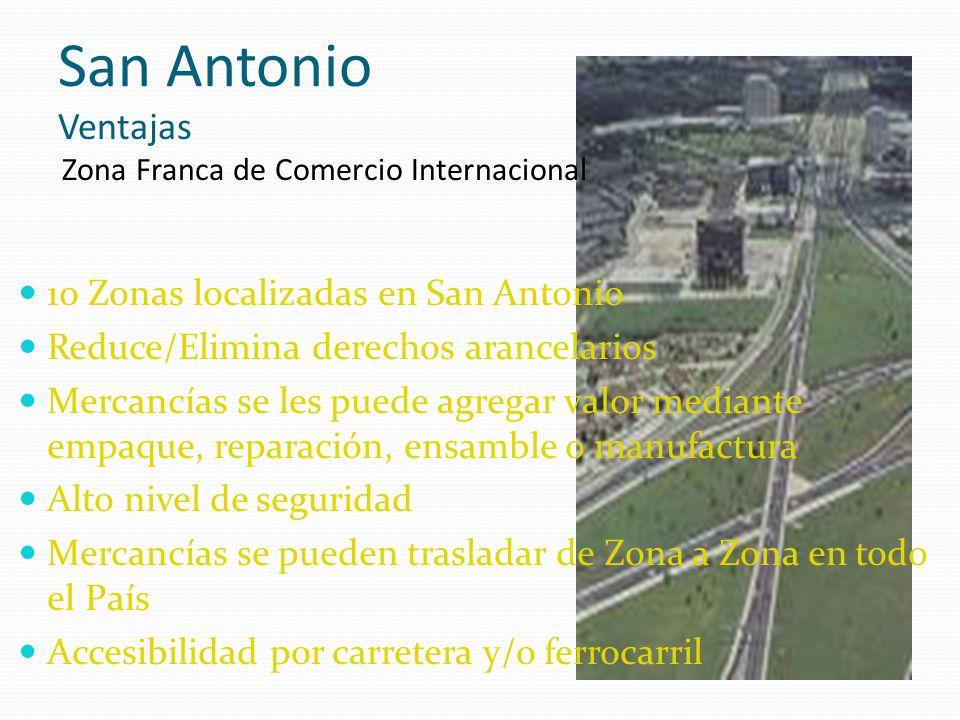 San Antonio Ventajas Zona Franca de Comercio Internacional