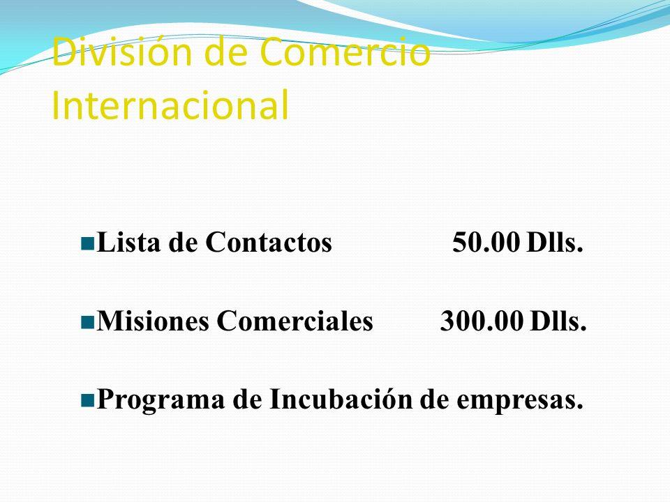 División de Comercio Internacional