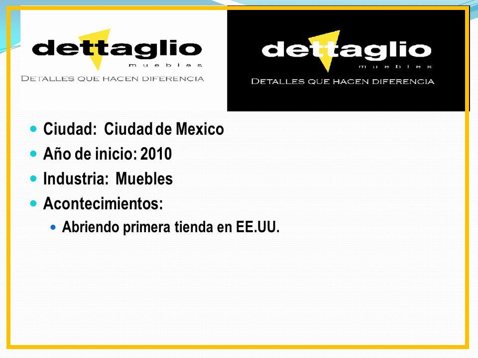 Ciudad: Ciudad de Mexico Año de inicio: 2010 Industria: Muebles