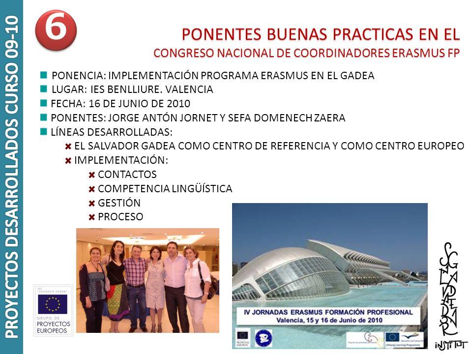 PROYECTOS DESARROLLADOS CURSO 09-10
