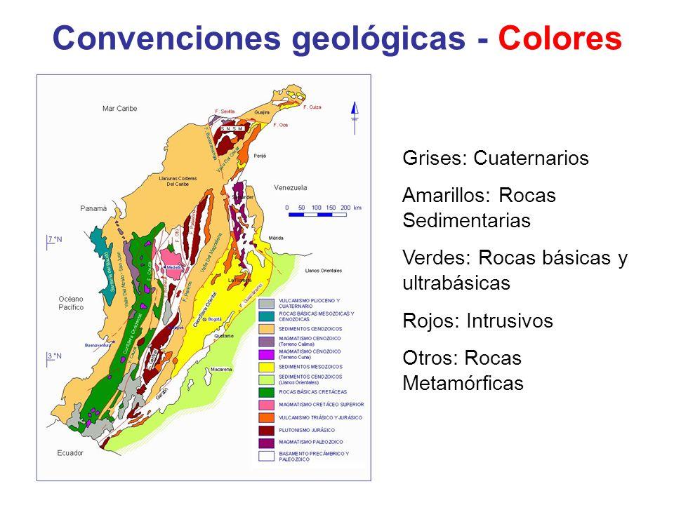 Convenciones geológicas - Colores
