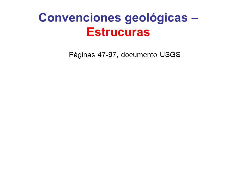 Convenciones geológicas – Estrucuras