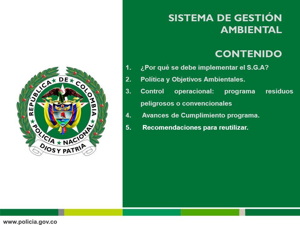 SISTEMA DE GESTIÓN AMBIENTAL contenido
