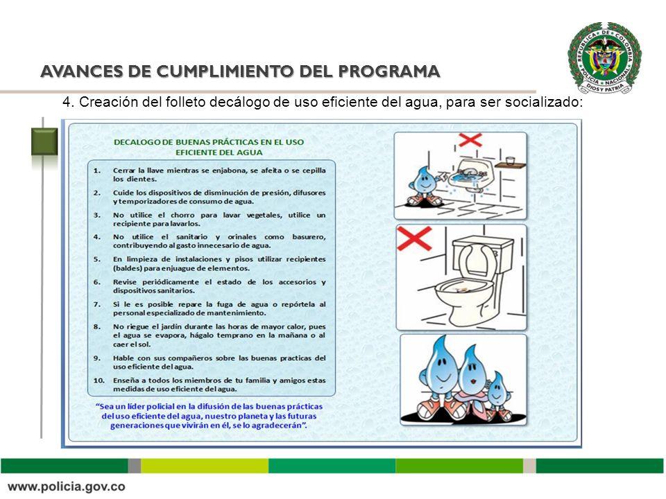 AVANCES DE CUMPLIMIENTO DEL PROGRAMA