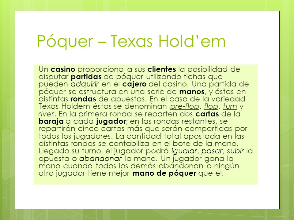 Póquer – Texas Hold'em