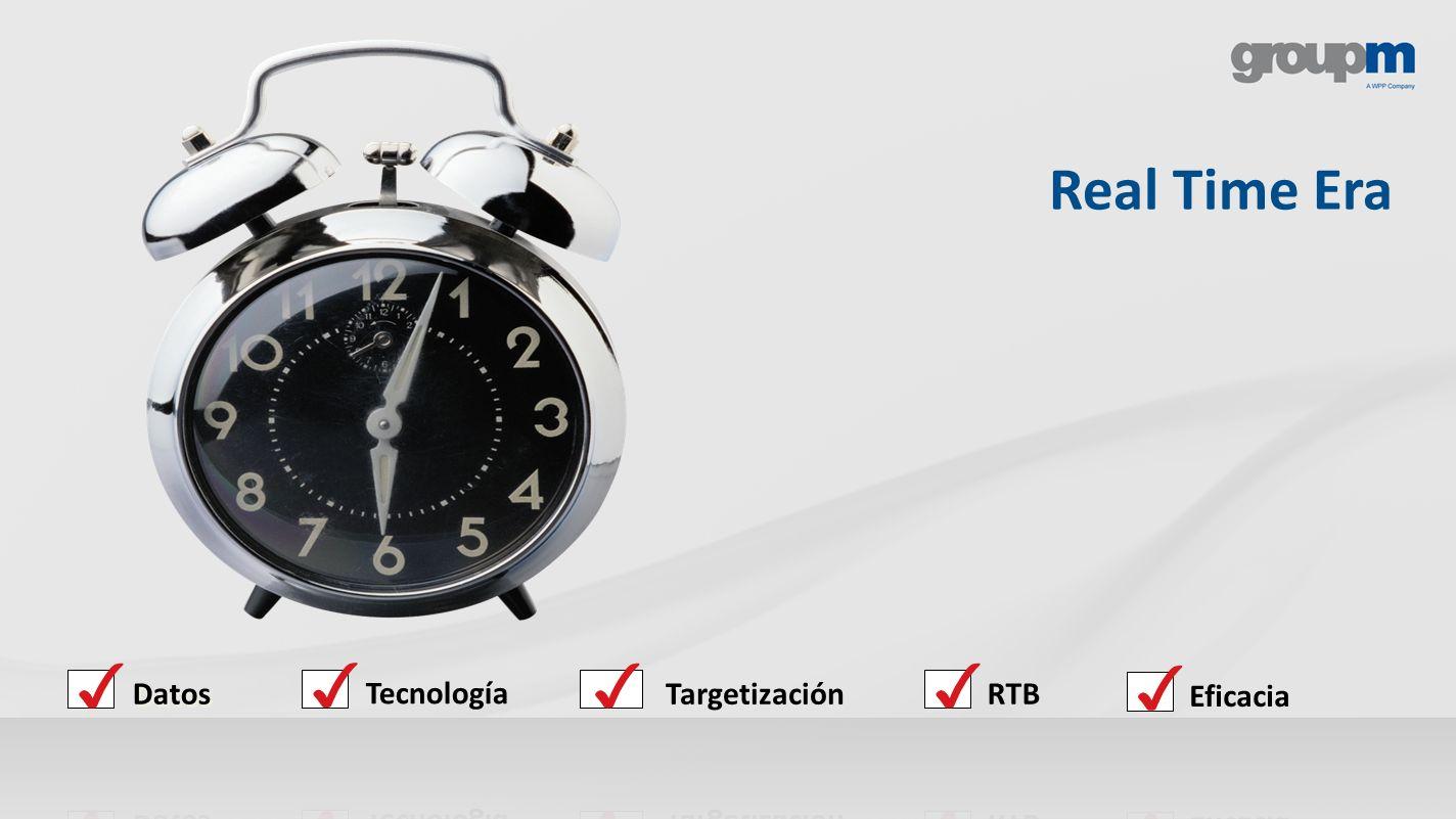 Real Time Era ✓ Datos ✓ Tecnología ✓ Targetización ✓ RTB ✓ Eficacia