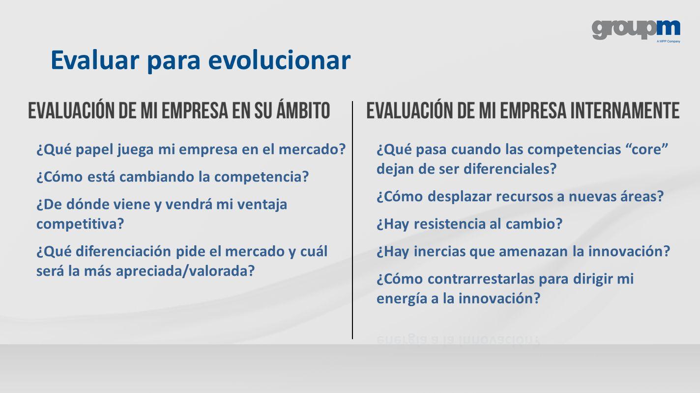 Evaluar para evolucionar