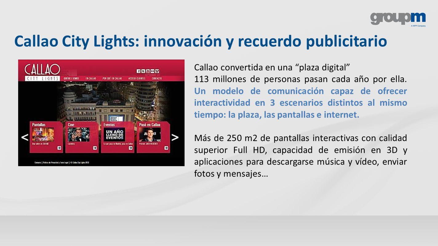 Callao City Lights: innovación y recuerdo publicitario