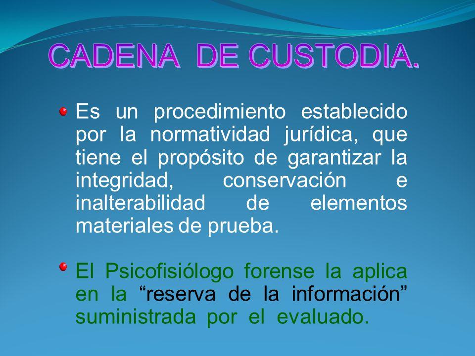 CADENA DE CUSTODIA.