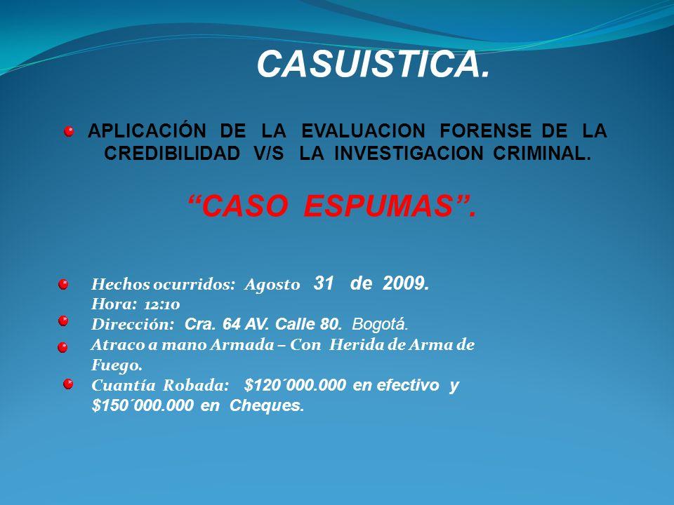 CASUISTICA. CASO ESPUMAS .