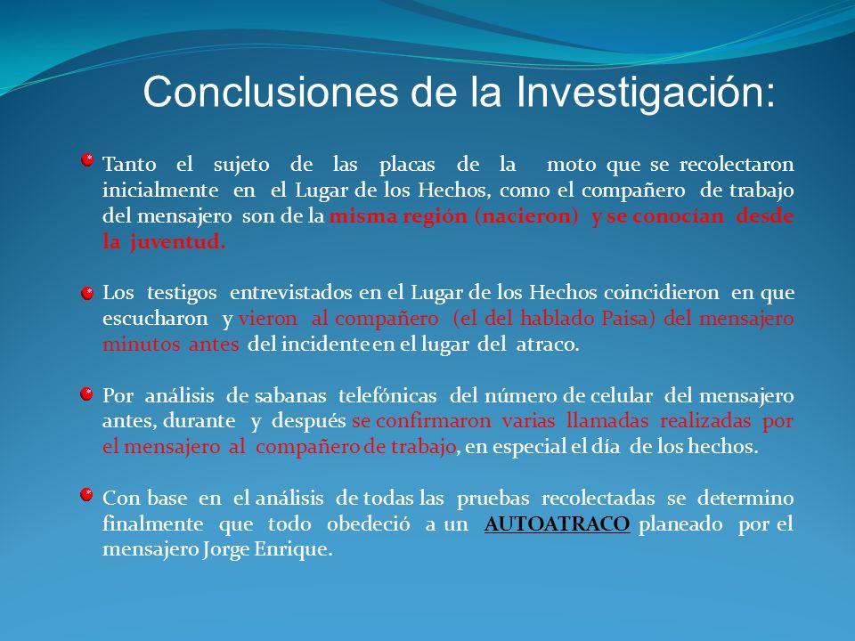 Conclusiones de la Investigación: