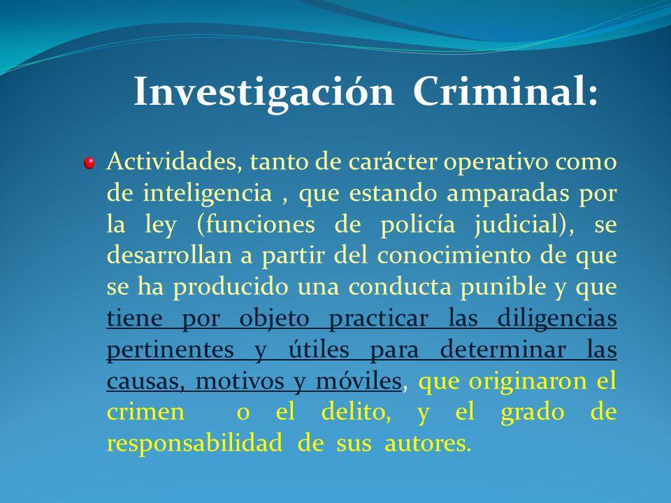 Investigación Criminal: