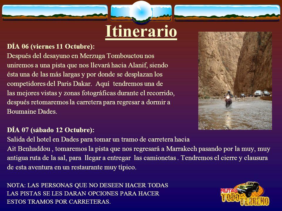 Itinerario DÍA 06 (viernes 11 Octubre):