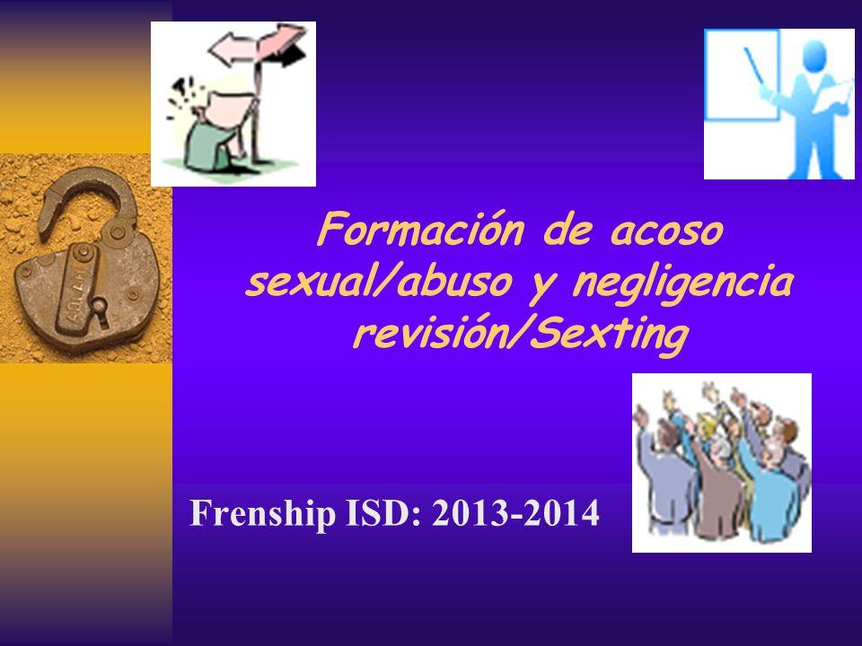 Formación de acoso sexual/abuso y negligencia revisión/Sexting