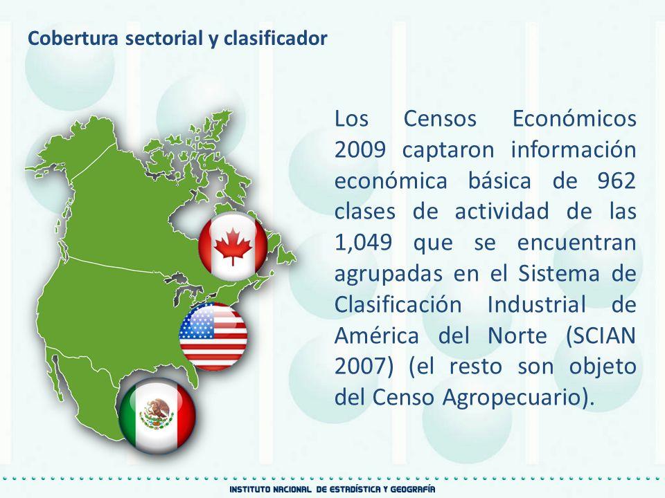 Cobertura sectorial y clasificador