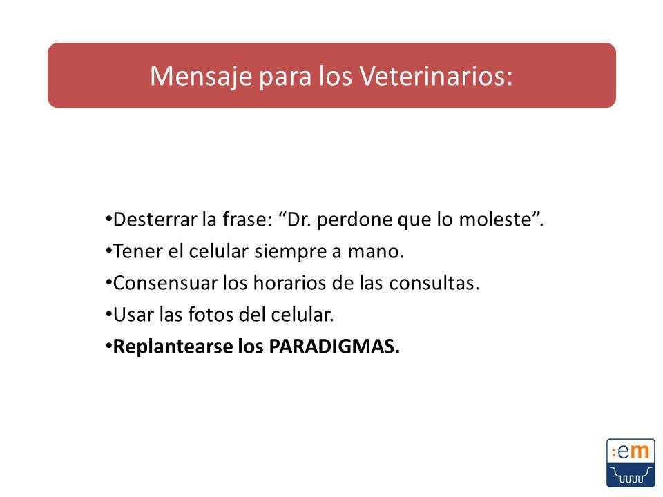 Mensaje para los Veterinarios: