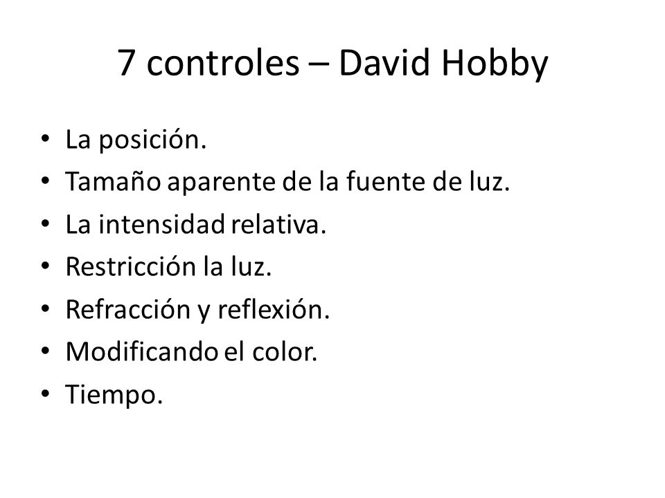 7 controles – David Hobby
