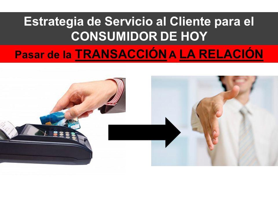 Estrategia de Servicio al Cliente para el CONSUMIDOR DE HOY