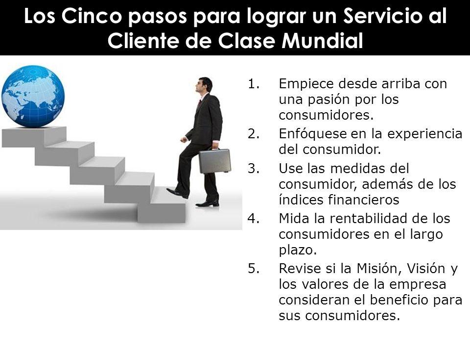 Los Cinco pasos para lograr un Servicio al Cliente de Clase Mundial