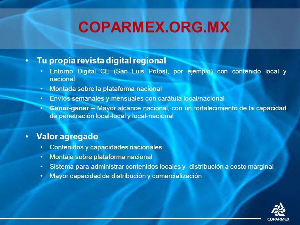 COPARMEX.ORG.MX Tu propia revista digital regional Valor agregado