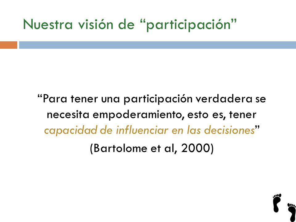 Nuestra visión de participación