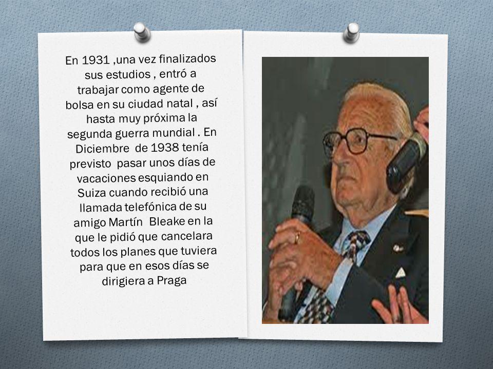 En 1931 ,una vez finalizados sus estudios , entró a trabajar como agente de bolsa en su ciudad natal , así hasta muy próxima la segunda guerra mundial .