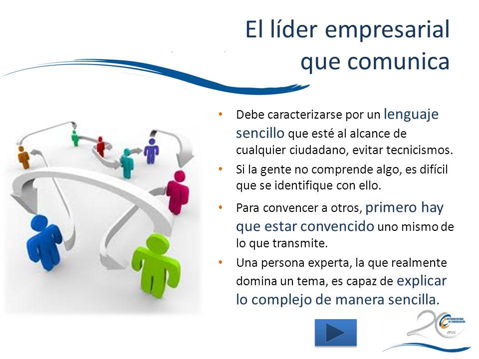El líder empresarial que comunica
