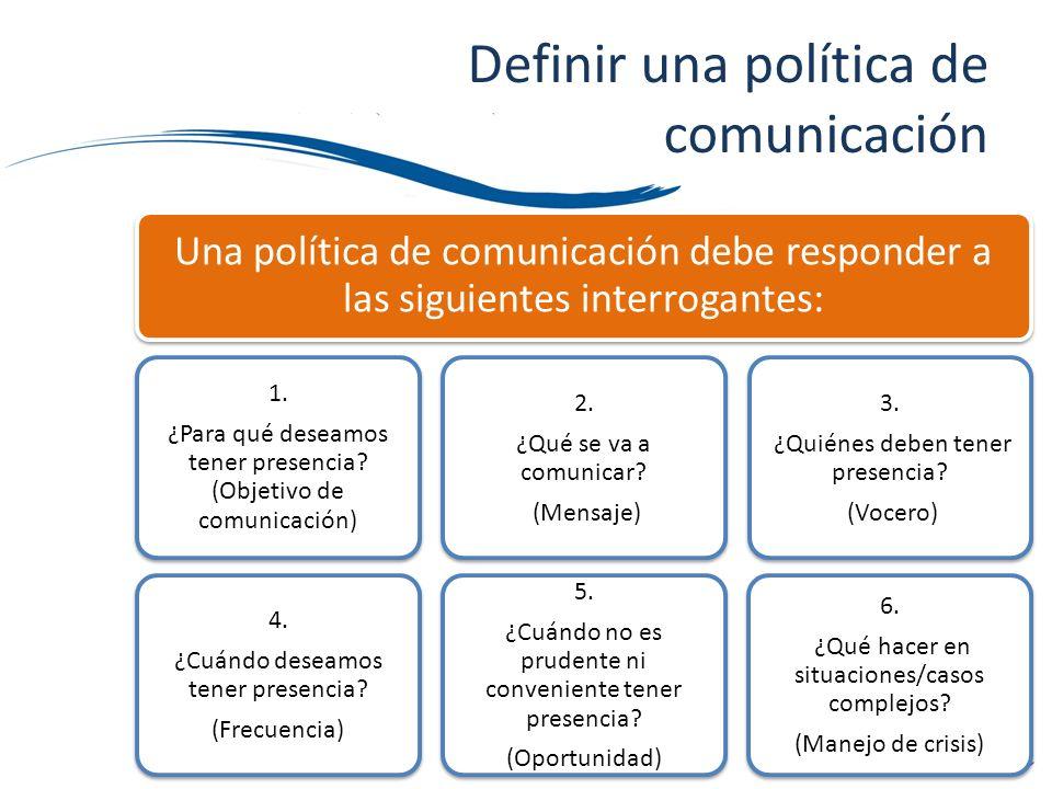 Definir una política de comunicación