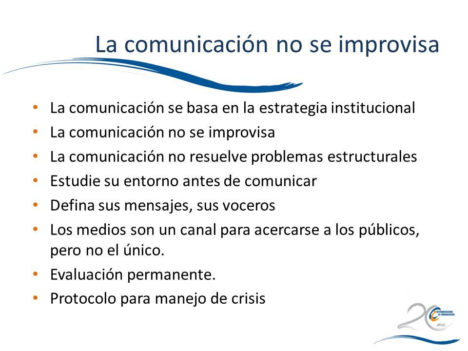 La comunicación no se improvisa