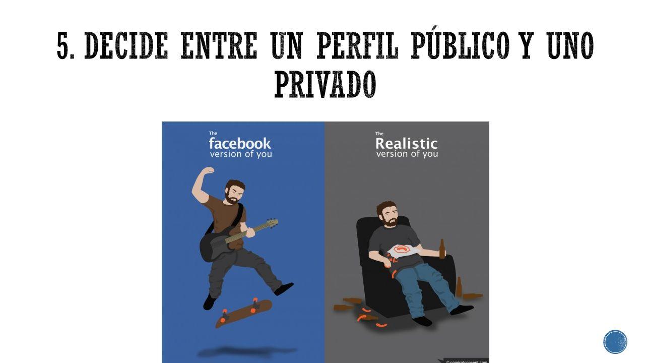 5. Decide entre un perfil público y uno privado