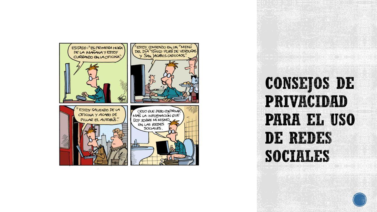 Consejos de privacidad para el uso de redes sociales
