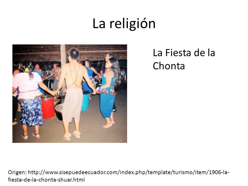 La religión La Fiesta de la Chonta
