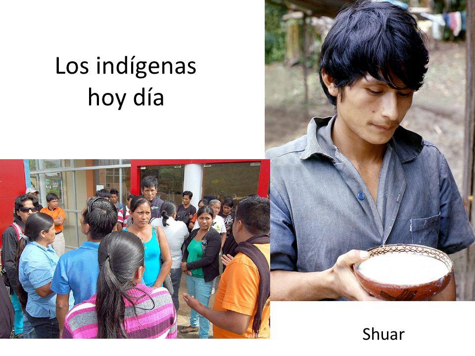Los indígenas hoy día Shuar