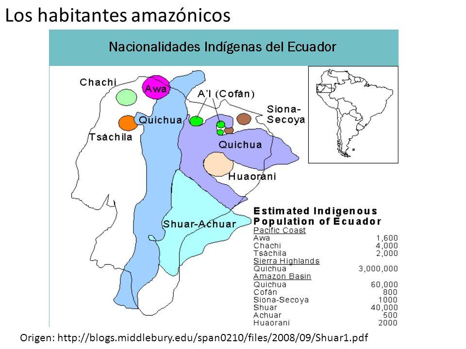 Los habitantes amazónicos