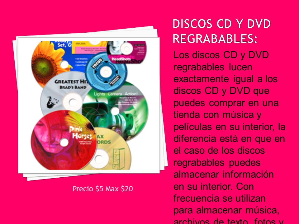 Discos CD y DVD regrabables: