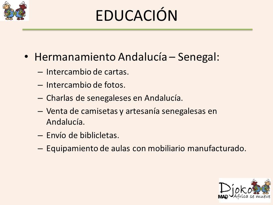 EDUCACIÓN Hermanamiento Andalucía – Senegal: Intercambio de cartas.