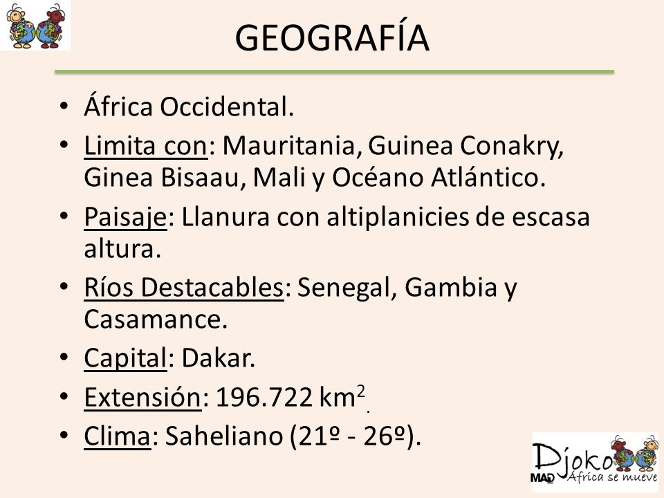 GEOGRAFÍA África Occidental.