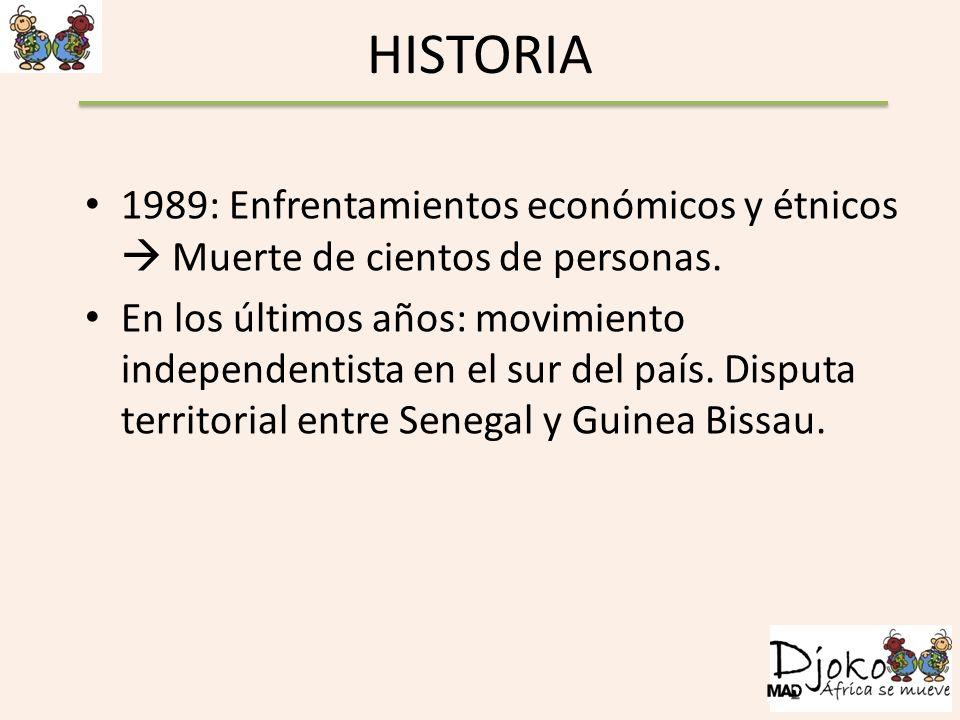 HISTORIA 1989: Enfrentamientos económicos y étnicos  Muerte de cientos de personas.