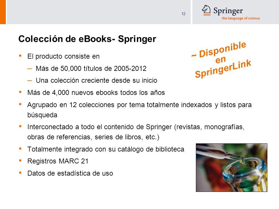 Colección de eBooks- Springer