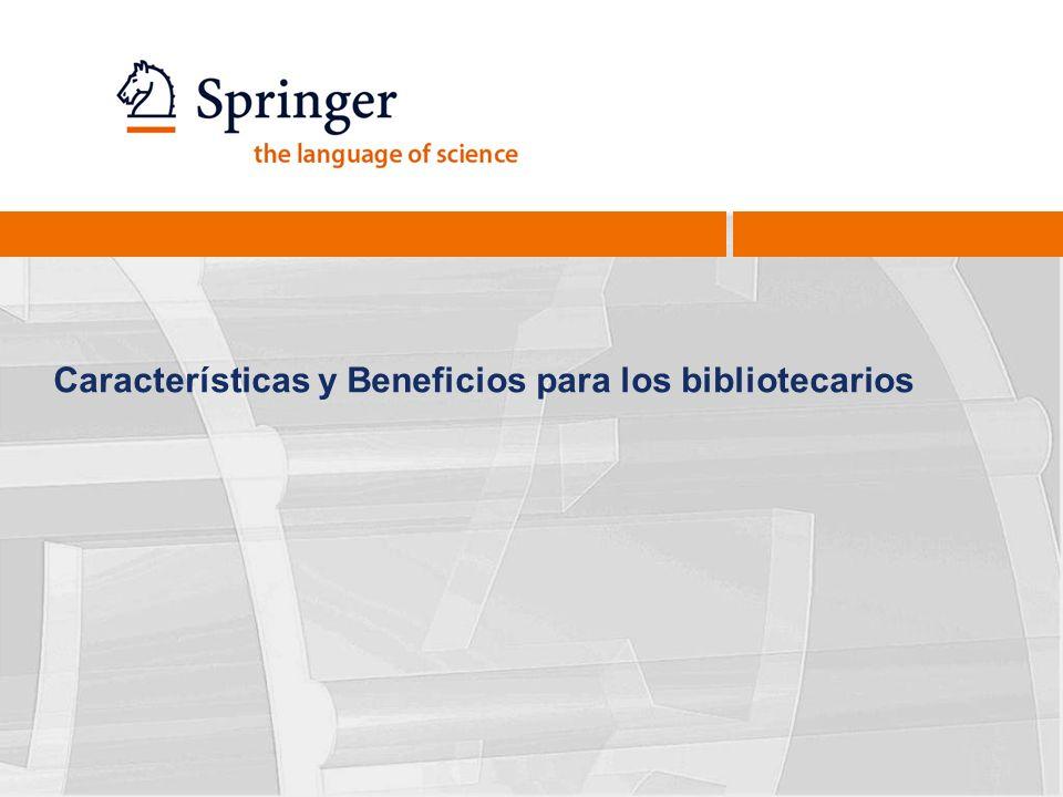 Características y Beneficios para los bibliotecarios