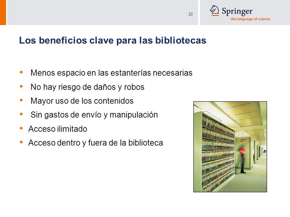 Los beneficios clave para las bibliotecas