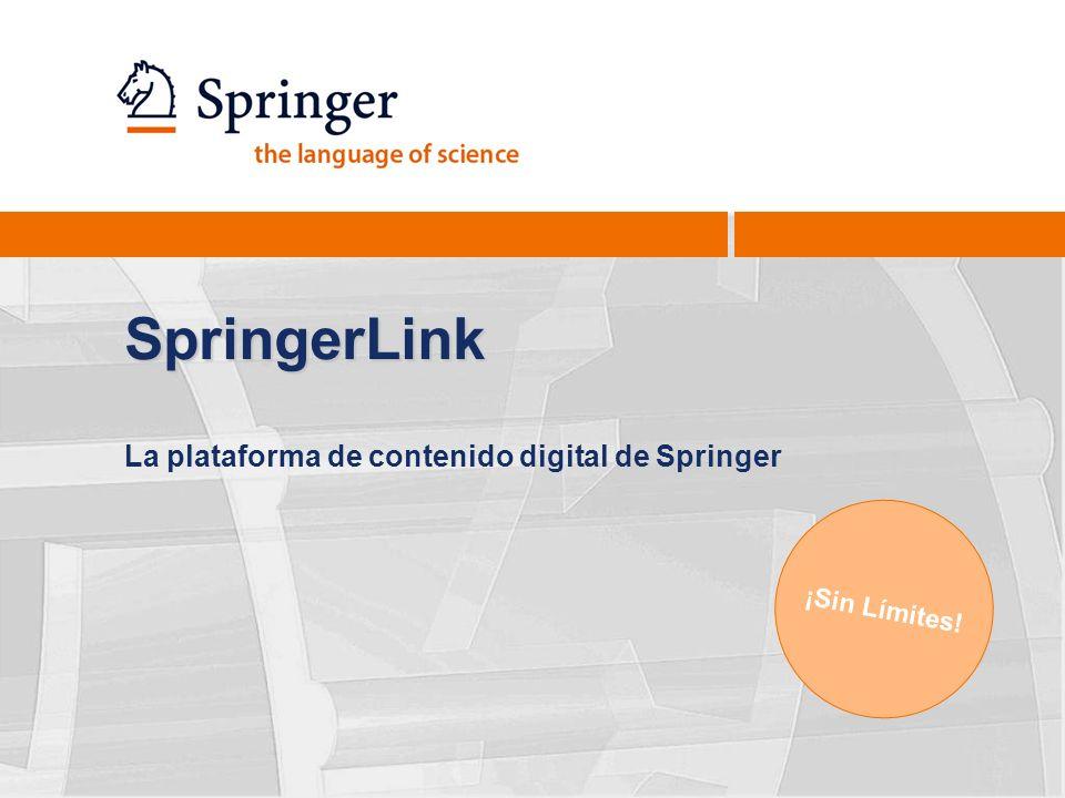 La plataforma de contenido digital de Springer