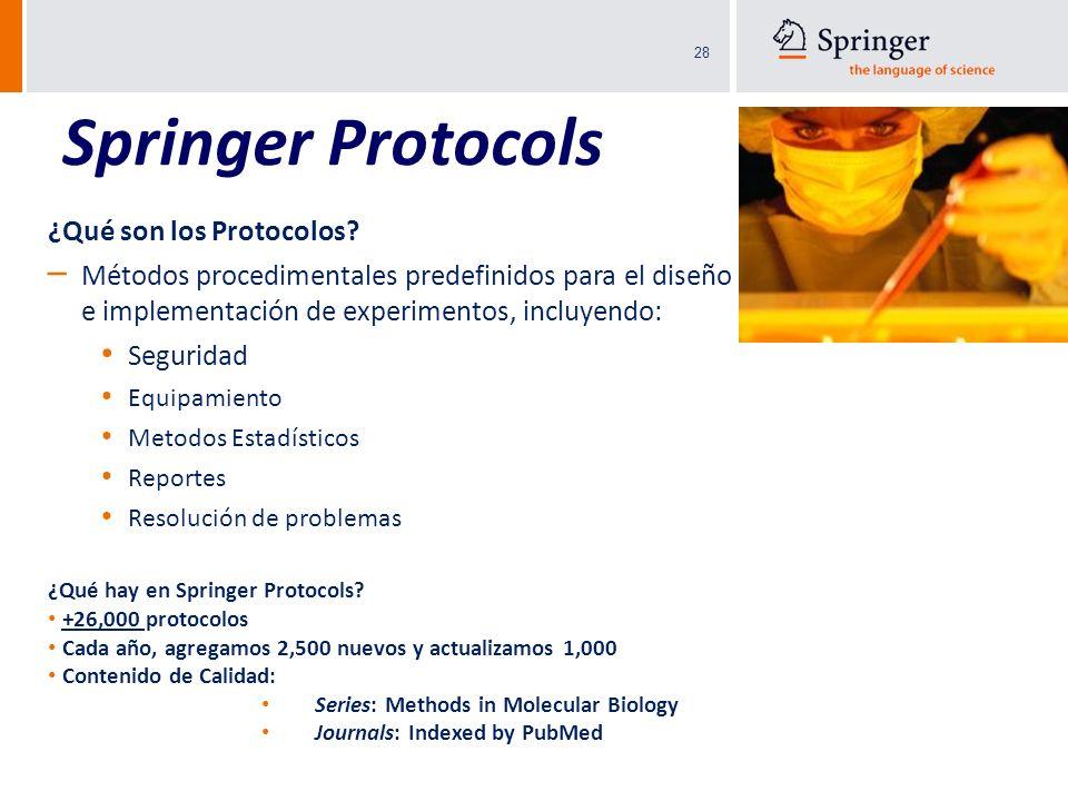 Springer Protocols ¿Qué son los Protocolos