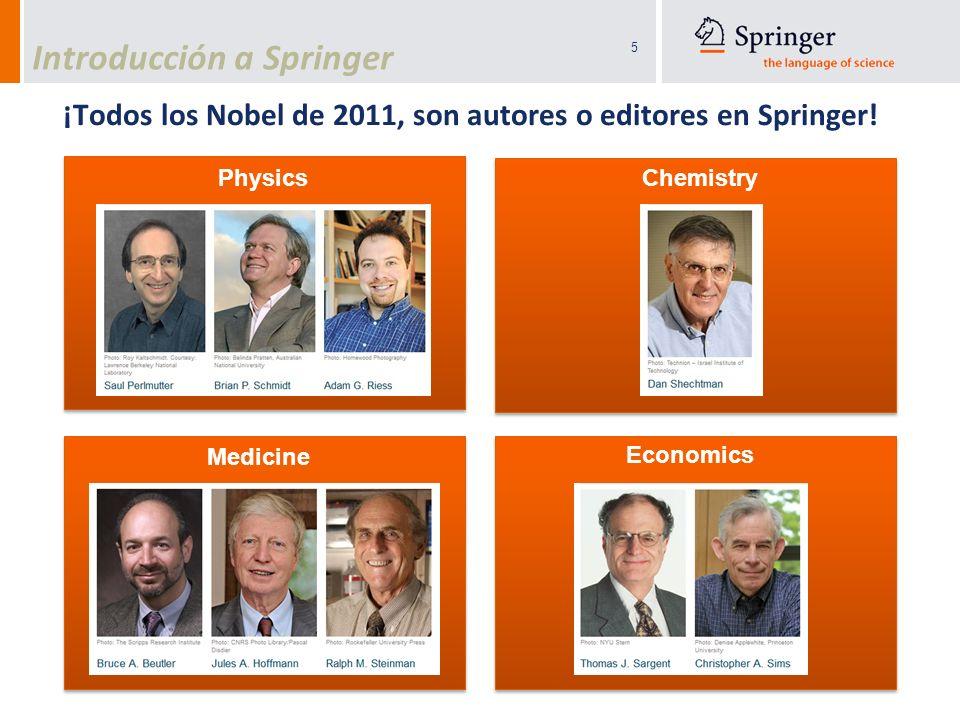 ¡Todos los Nobel de 2011, son autores o editores en Springer!