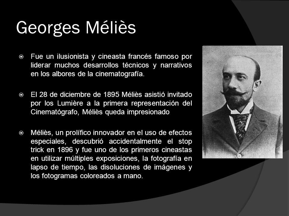 Georges Méliès Fue un ilusionista y cineasta francés famoso por liderar muchos desarrollos técnicos y narrativos en los albores de la cinematografía.