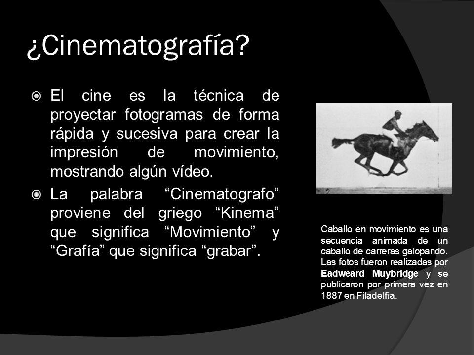 ¿Cinematografía