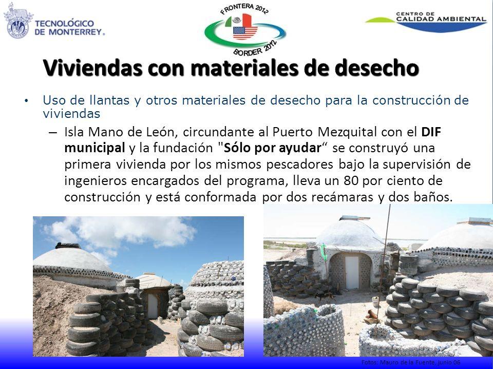 Viviendas con materiales de desecho